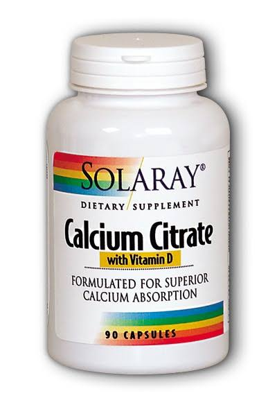 Solaray Calcium Citrate with Vitamin D 90 Capsules