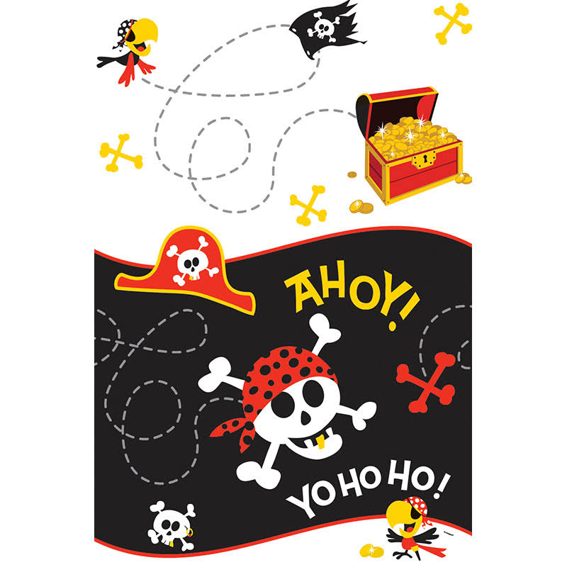 "Pirate Party Plastic Tablecloth - 84"" x 54"""