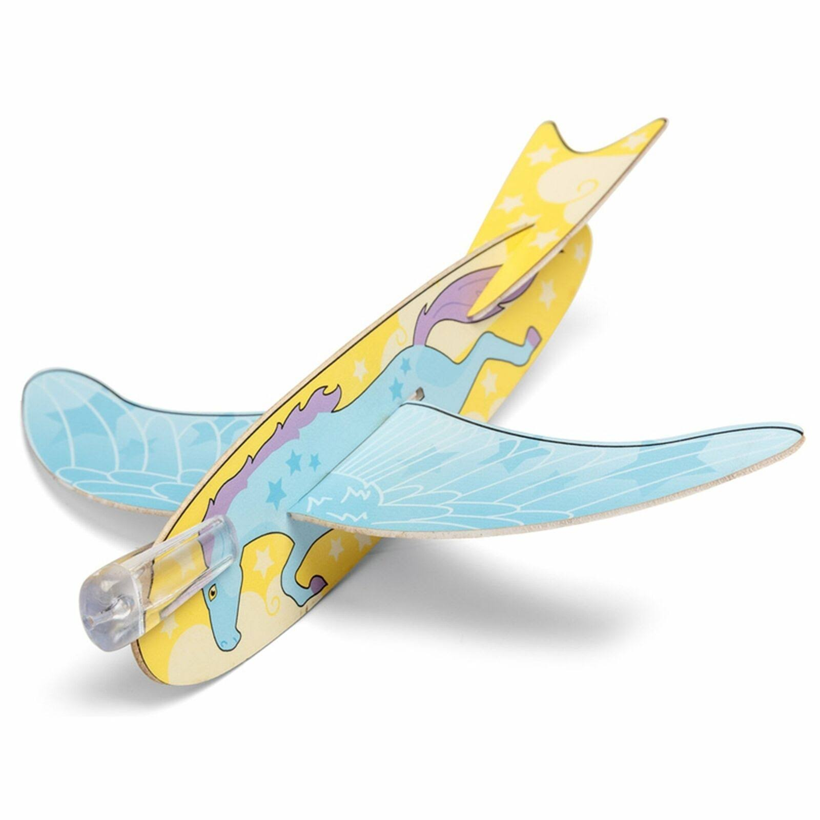 Unicorn Easy To Make and Fun to Fly Glider Toys - 4pk