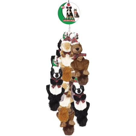 Holiday Crinklers Forest Animals Pet Toy - Assorted