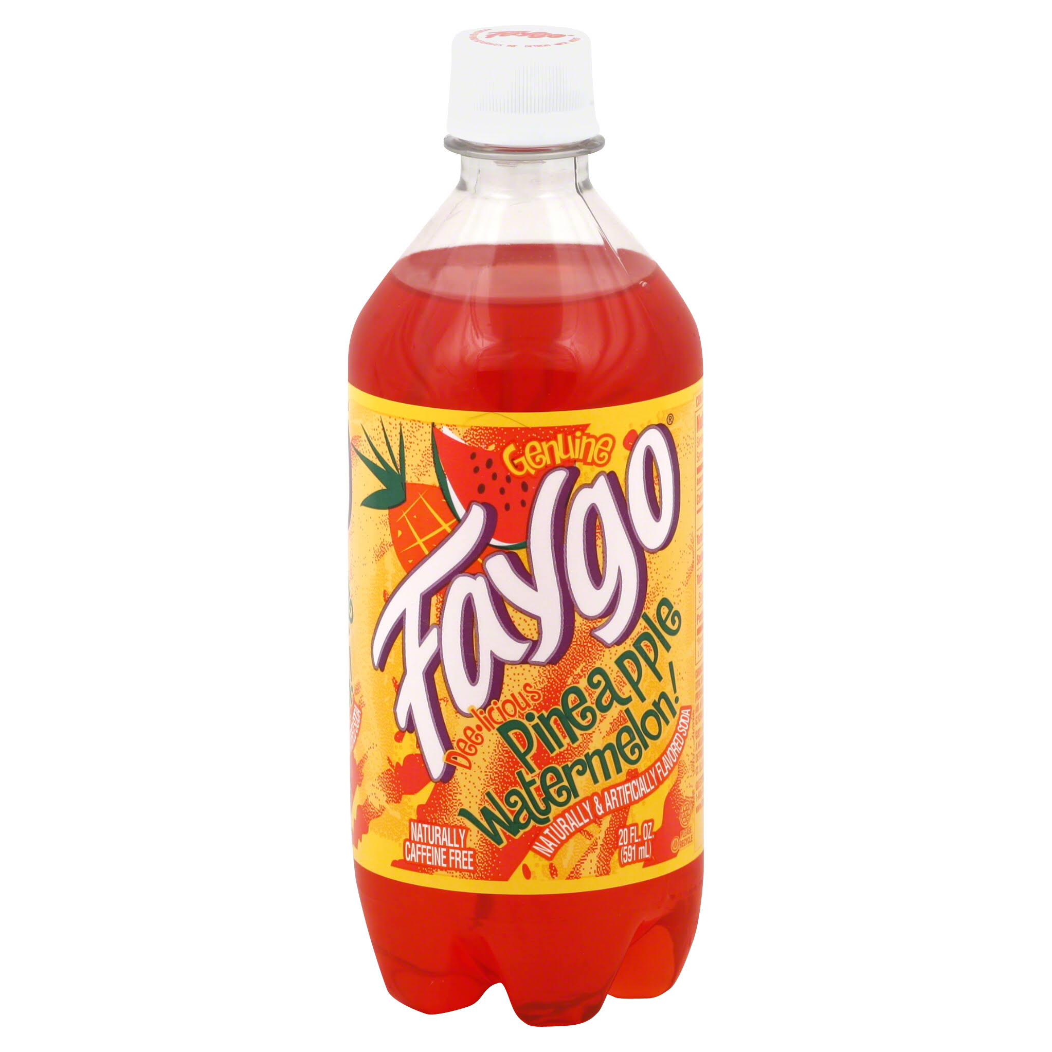 Faygo Soda, Pineapple Watermelon - 20 fl oz