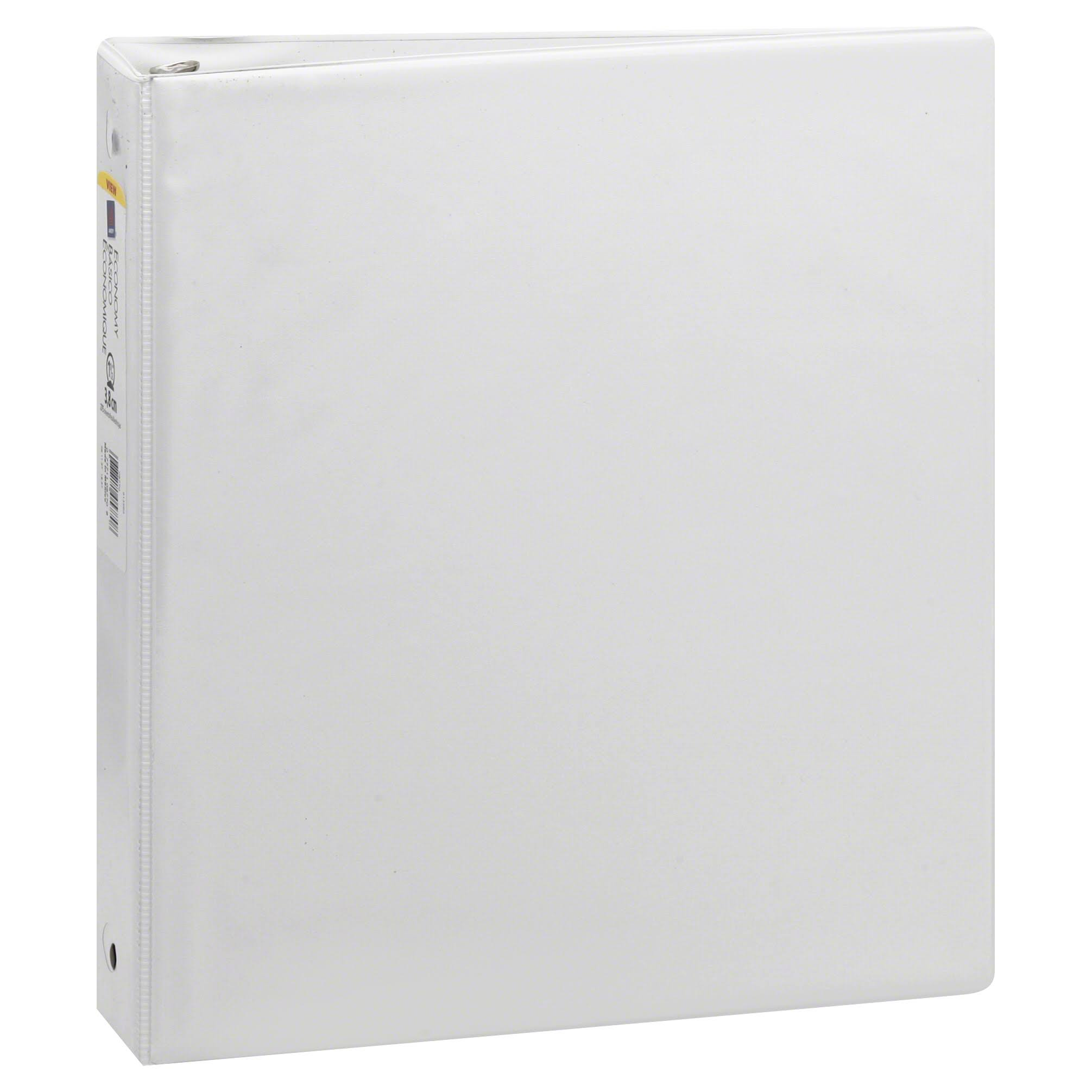 "Avery Economy View Binder - White, With 1.5"" Round Ring"