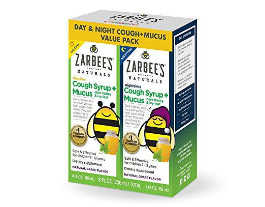 Zarbee's Naturals Children's Cough Syrup - Mucus Dark Honey & Ivy Leaf, 4oz, 2ct