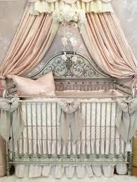 Bratt Decor Crib Skirt by Harlow U0027s Blush Nursery Linen And Lace Vintage Nursery Style