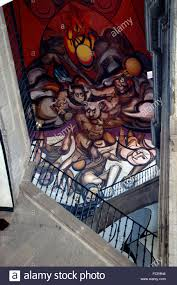 David Alfaro Siqueiros Famous Murals by David Alfaro Siqueiros Mural Patriots And Parricides Stock Photo