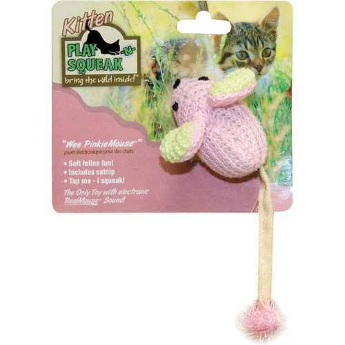 Our Pets Play-N-Squeak Wee Pinkie Mouse Kitten Toy
