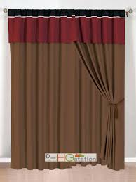 Pink Ruffle Curtain Topper by Black Curtain Valance