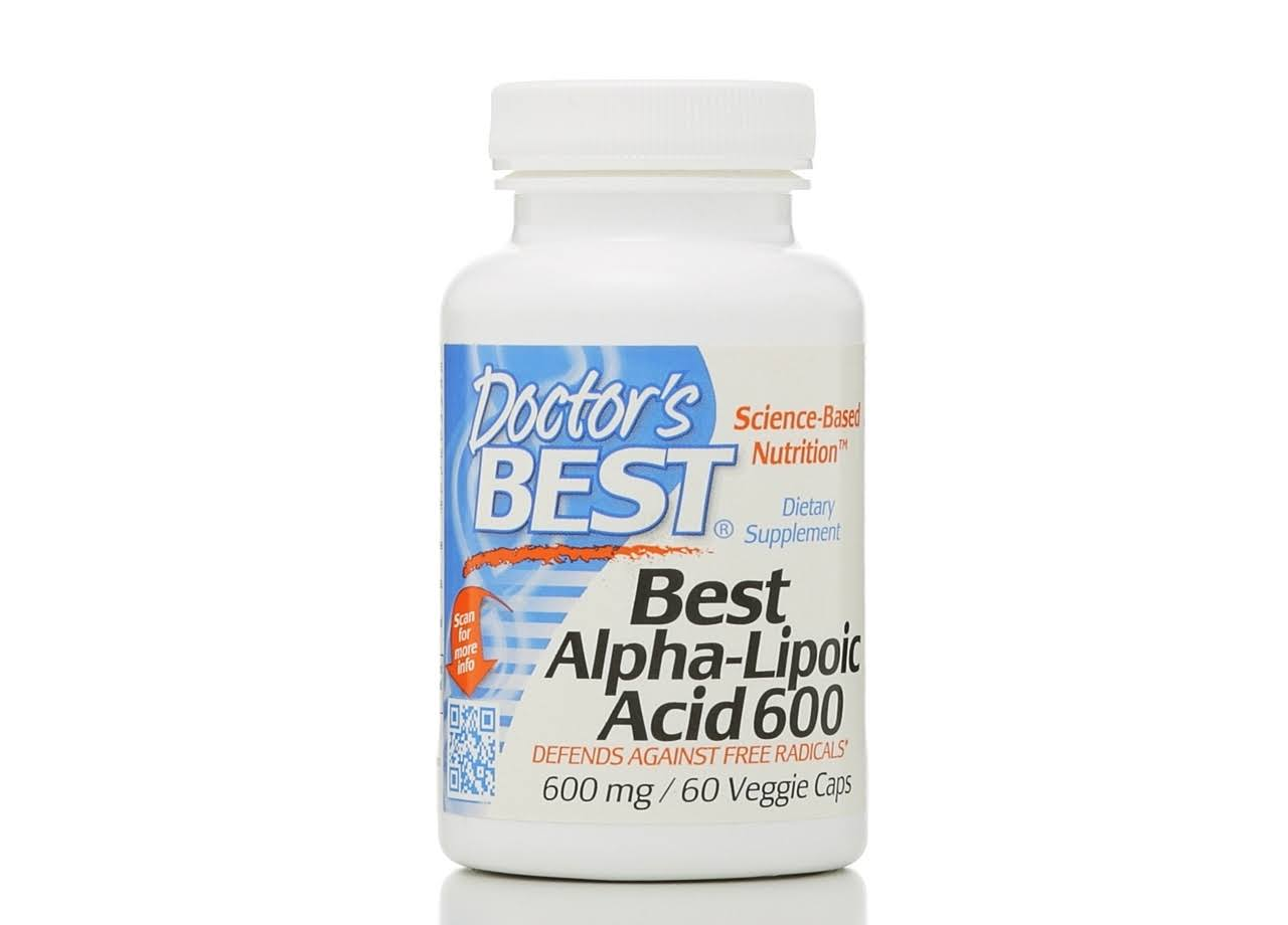 Doctor's Best Best Alpha-Lipoic Acid Vegetable Capsules - 600mg, 60 Capsules
