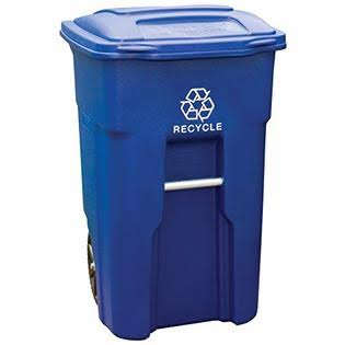 Toter Residential 2 Wheeled Recycling Cart - Blue