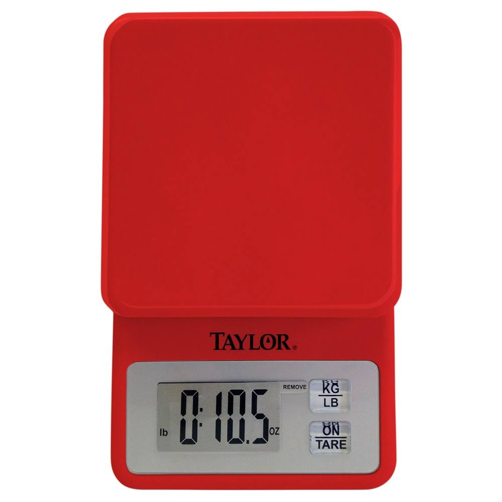 Taylor 3817r Compact Digital Kitchen Scale - Red