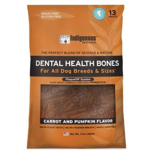 Indigenous Dental Health Bones - Carrot & Pumpkin Flavor