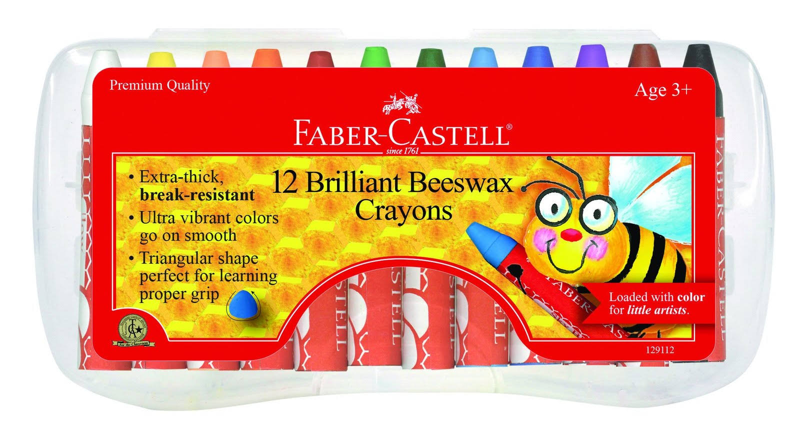 Faber Castell Crayons - 12 Count Brilliant Beeswax Crayons