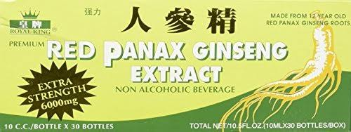 Red Panax Ginseng Alcohol Free 6000 mg 30 Vial