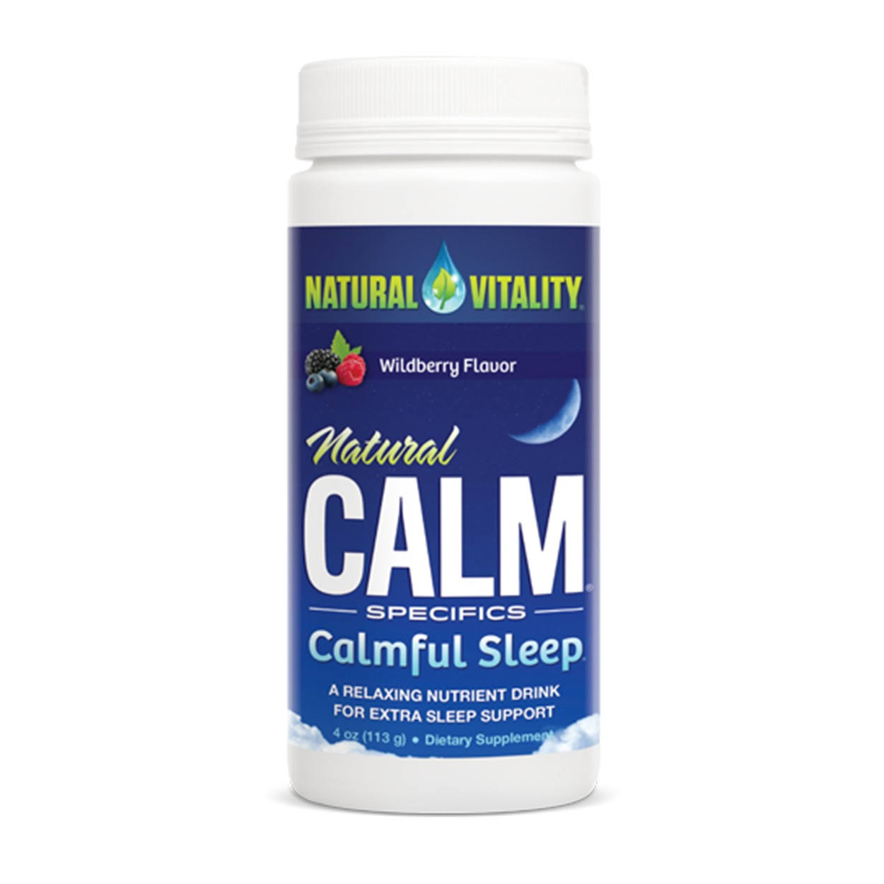Natural Vitality Natural Calm Calmful Sleep - Wildberry Flavor, 4oz