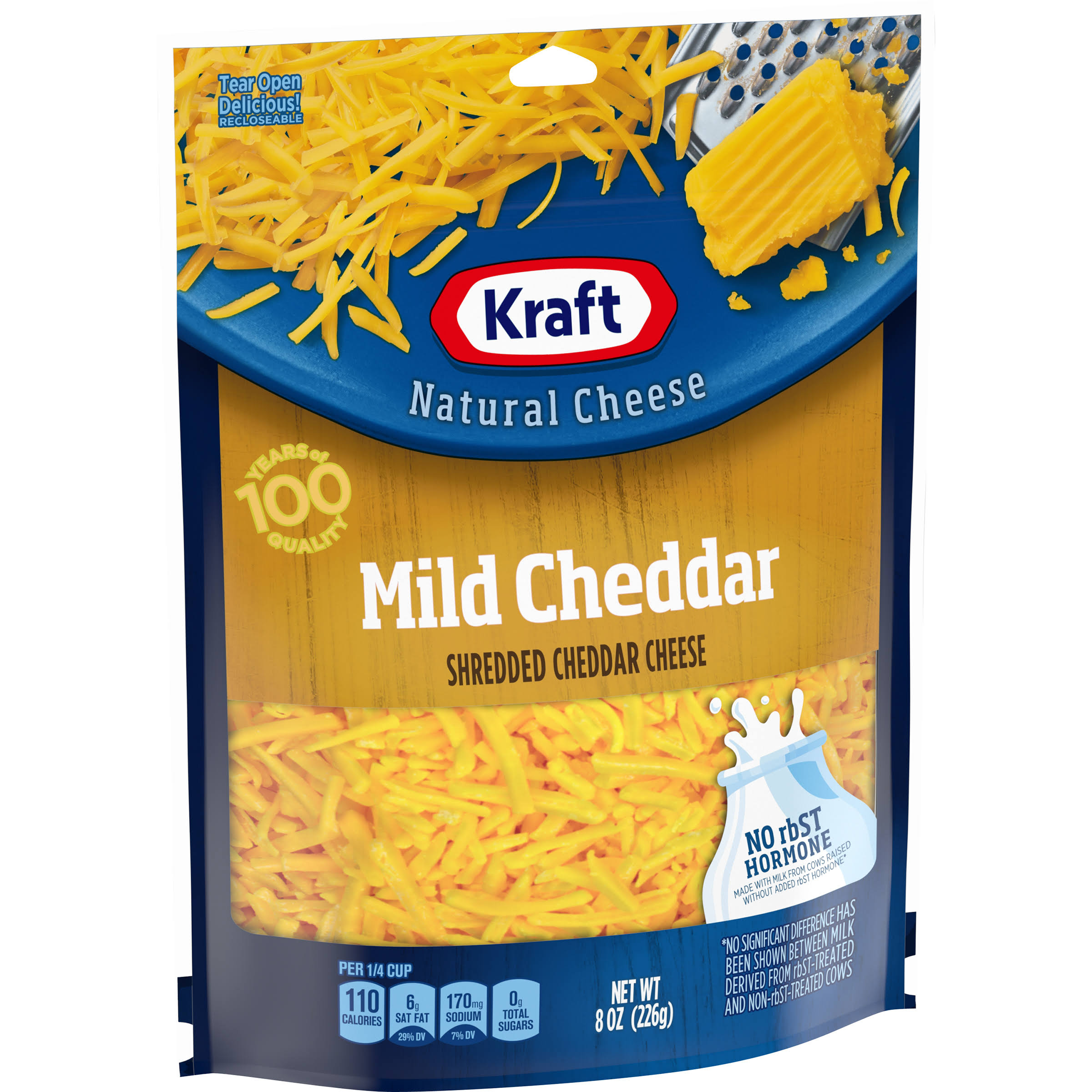 Kraft Shredded Mild Cheddar Cheese - 8oz
