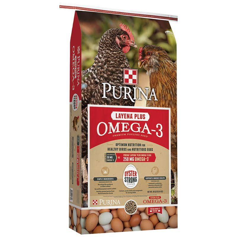 Purina Layena Plus Omega-3 40 Pound
