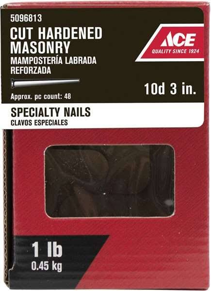 Ace Flat 3 in. L Masonry Nail Tapered Bright Steel 1 lb. 71525