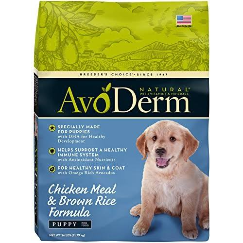 Avoderm Natural Formula Puppy Food - Chicken Meal and Brown Rice, 26lbs