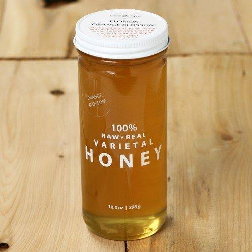 Bee Raw Florida Orange Blossom Honey - 10.5 oz jar