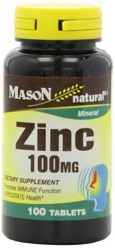 Mason Vitamins Zinc Promotes Immune Function and Prostate Health Supplement - 100ct
