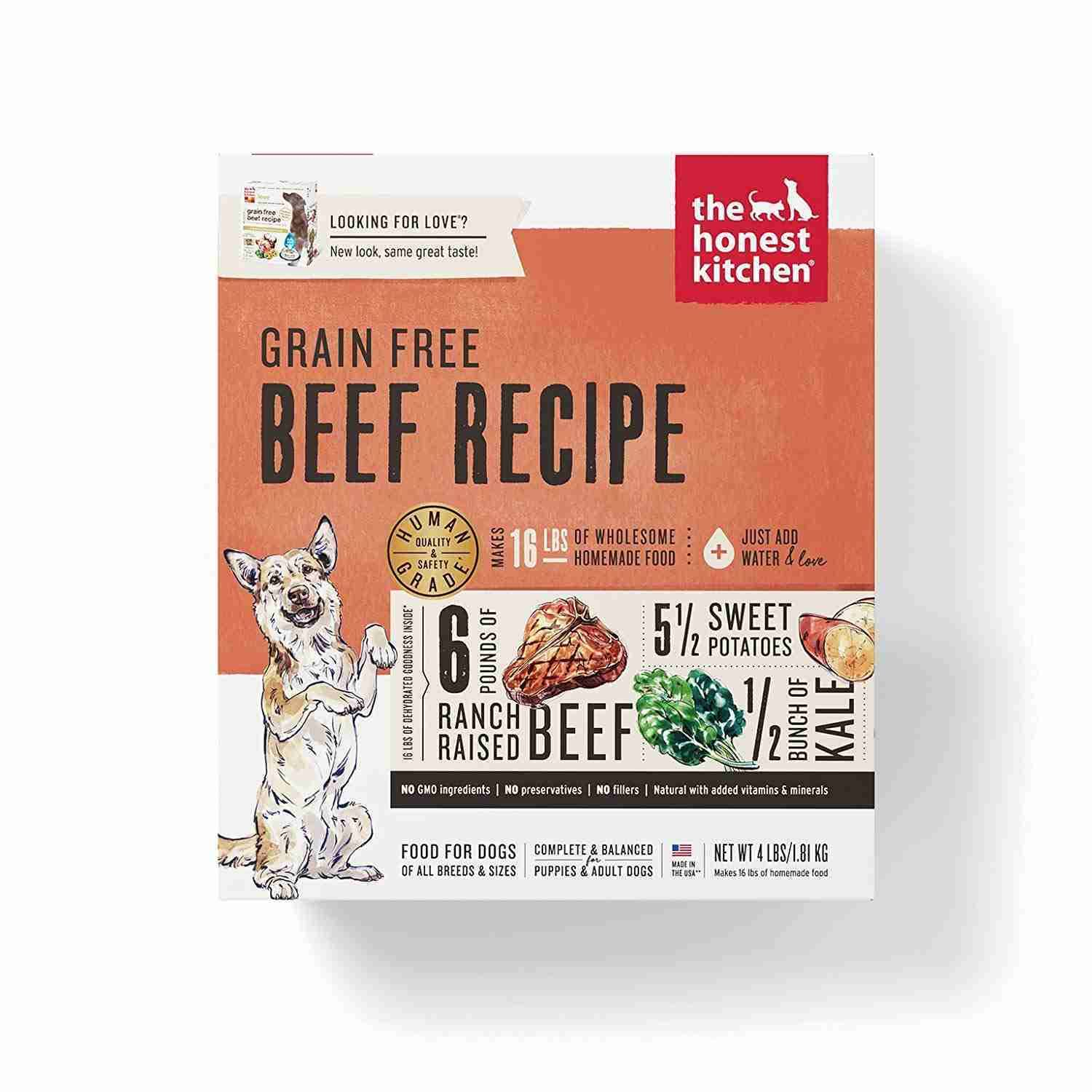 The Honest Kitchen Grain Free Dog Food - Beef, 4lbs