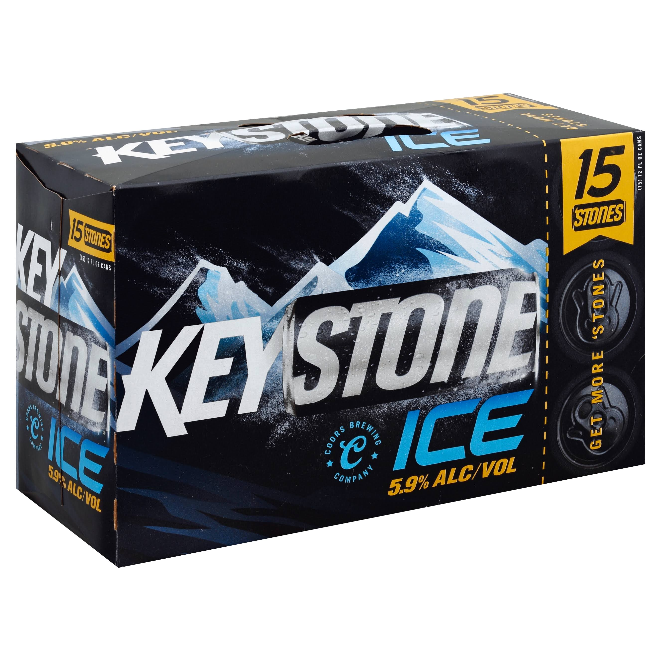 Keystone Ice Beer - 15 pack, 12 fl oz cans