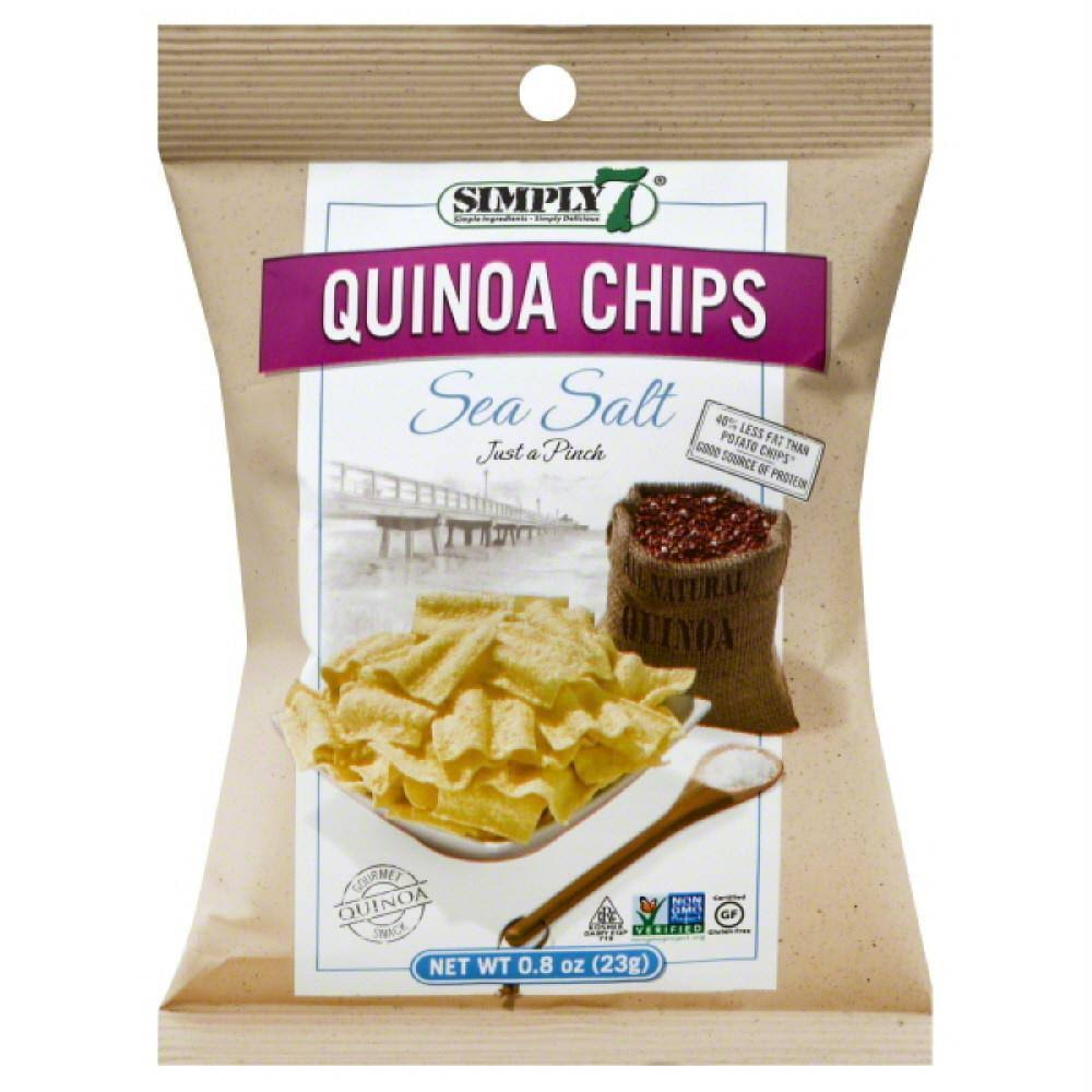 Simply 7 Quinoa Chips - Sea Salt, 0.8oz, Pack of 24