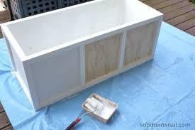 Build Outdoor Storage Bench diy outdoor storage box bench sand and sisal