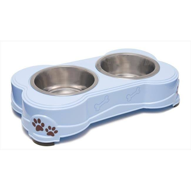 Loving Pets Dolce Diner Dog Bowl - Medium, 1qt, Set of 2, Blue