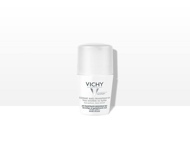 Vichy Deodorant 48 Hour Anti-Perspirant Roll On - Sensitive Skin, 50ml