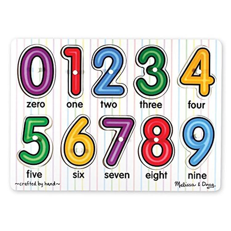 Melissa and Doug See-Inside Numbers Peg Puzzle