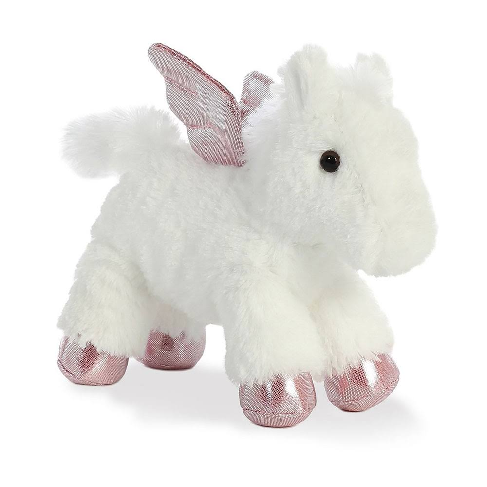 Aurora World Mini Flopsie Plush Toy - White, 8""