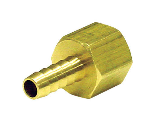 JMF 3/8in X 3/8in FPT Hose Barb in Lead Free Brass - Yellow