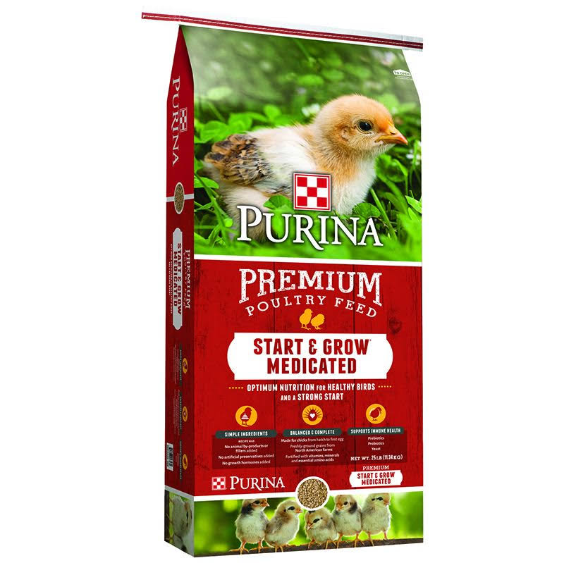 Purina Feed PMI Chick Start & Grow Optimum Nutrition Complete Poultry Food - 25lbs