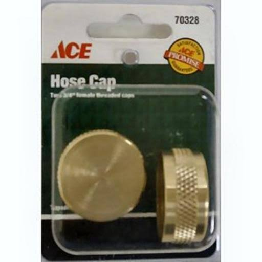 "ACE Hose End Caps, 3/4"" Female Threaded, Brass"
