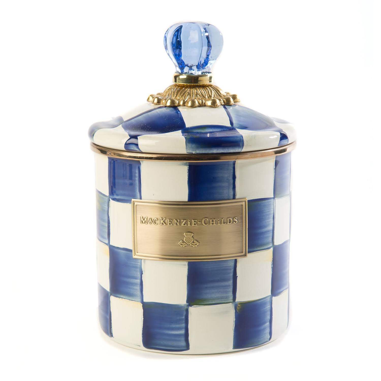 MacKenzie-Childs Canister - Royal Check, Small