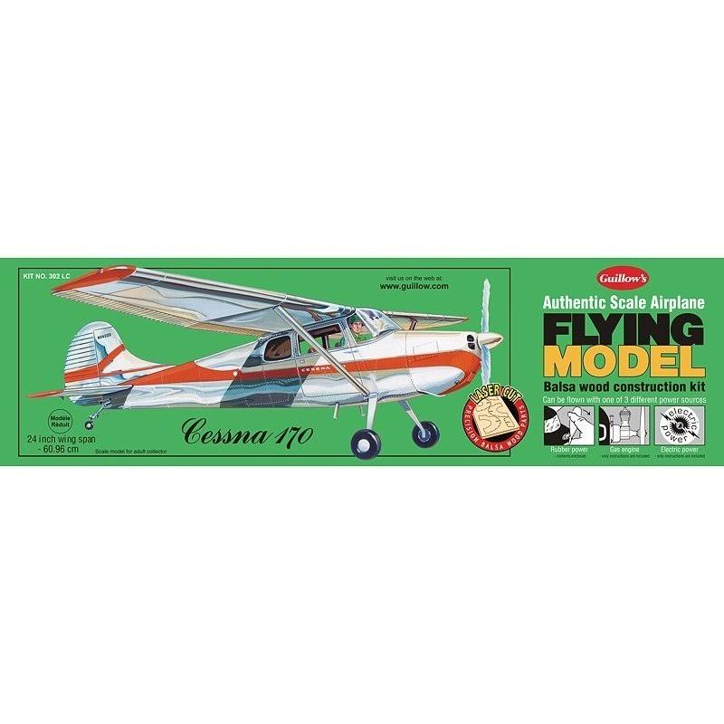 Guillow's Cessna 170 Laser Cut Flying Model Kit