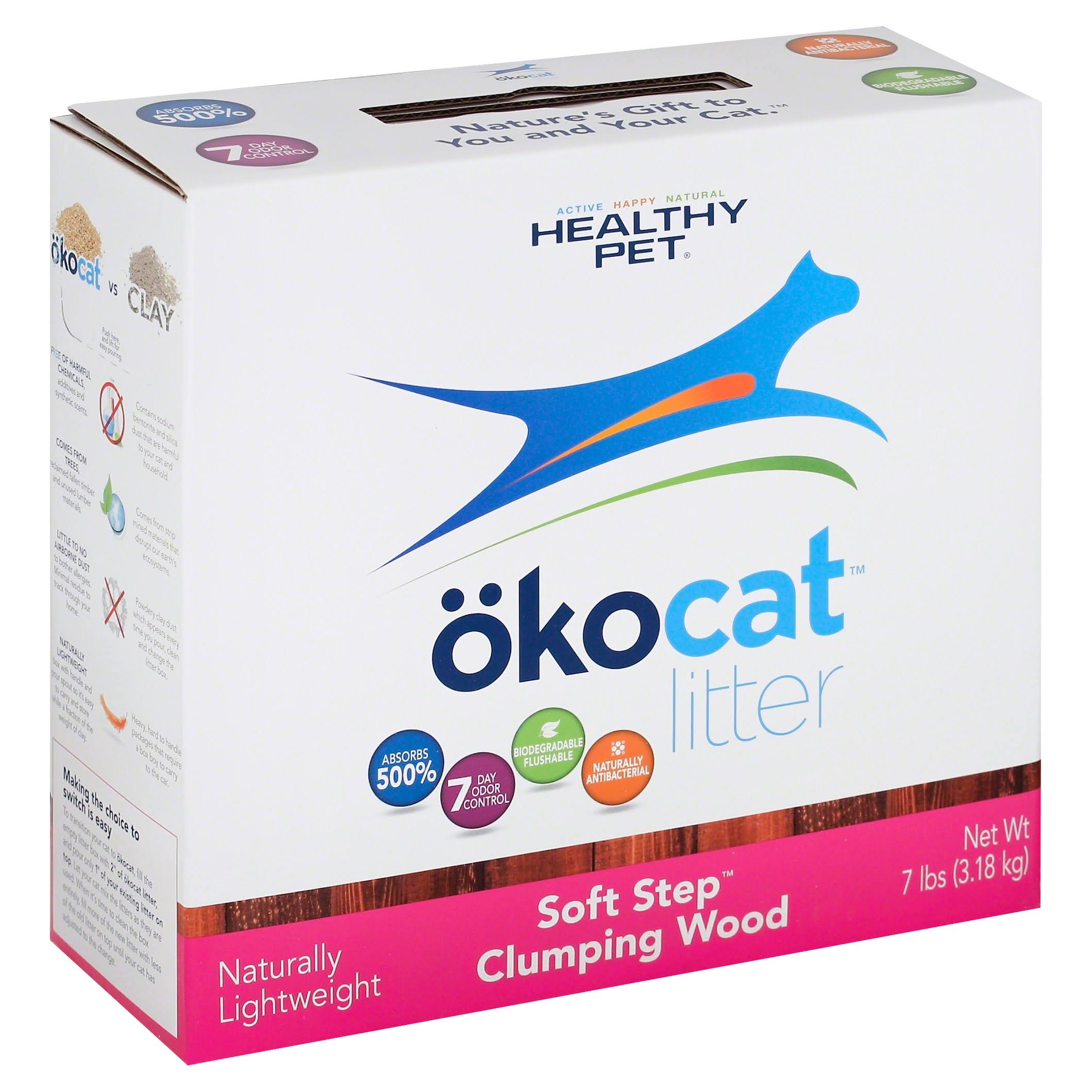 Okocat Soft-step Clumping Wood Litter