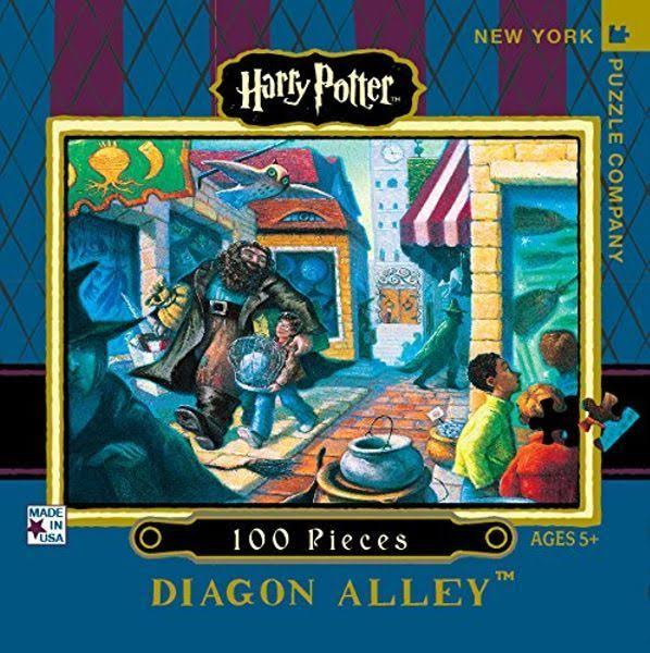 New York Puzzle Company - Harry Potter Diagon Alley Mini - 100 Piece J
