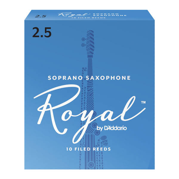 Rico Royal Soprano Saxophone Reeds, 10-Pack Strength 2.5
