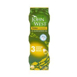 John West Tuna Chunks - in Olive Oil, 3 x 80g