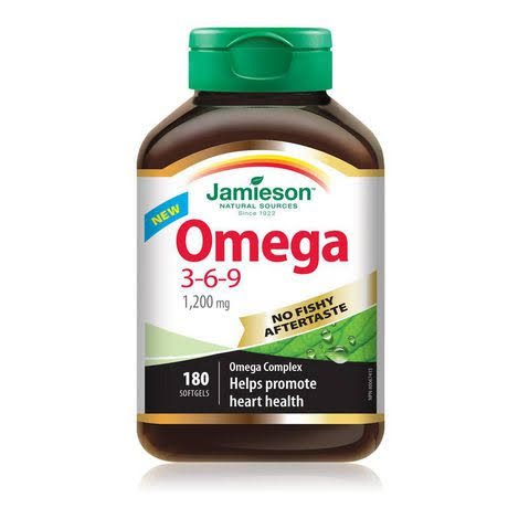 Jamieson Omega 3-6-9 1200mg Softgels - x180
