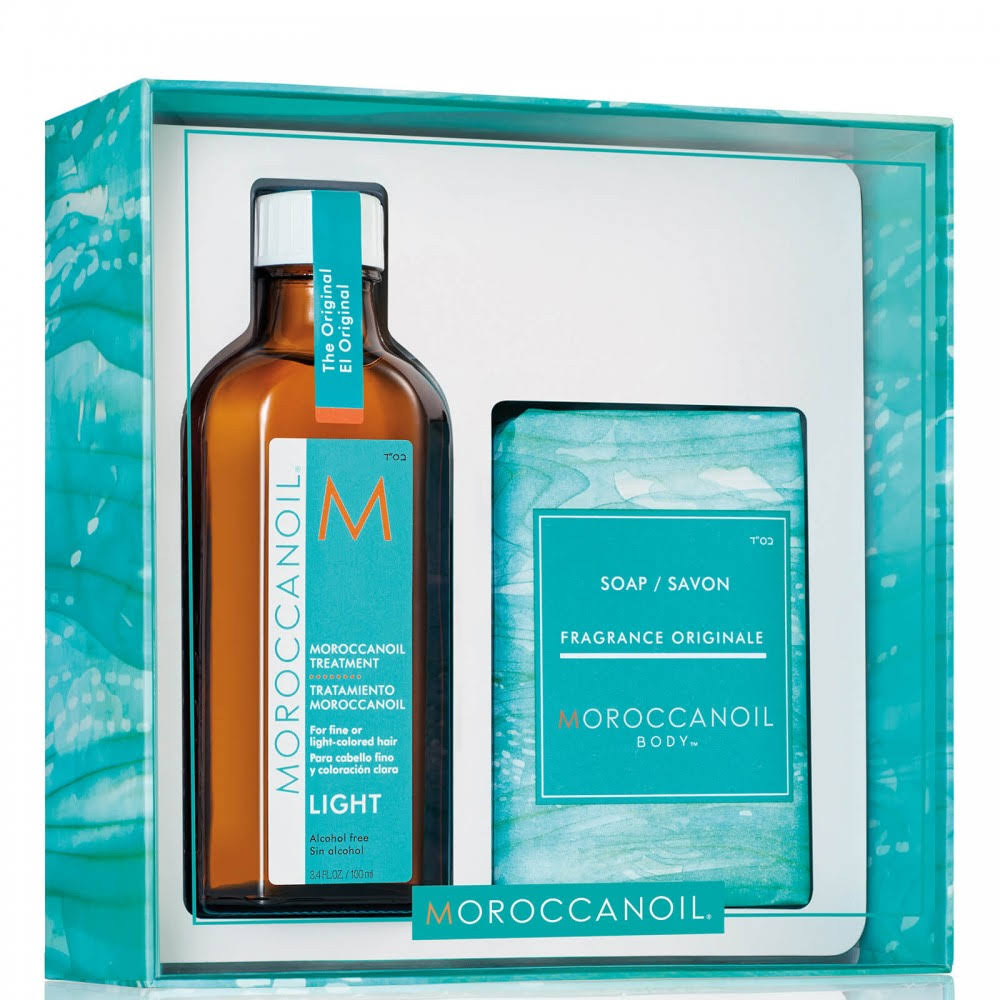 Moroccanoil Home and Away Oil Treatment Light and Soap Kit - 2pc