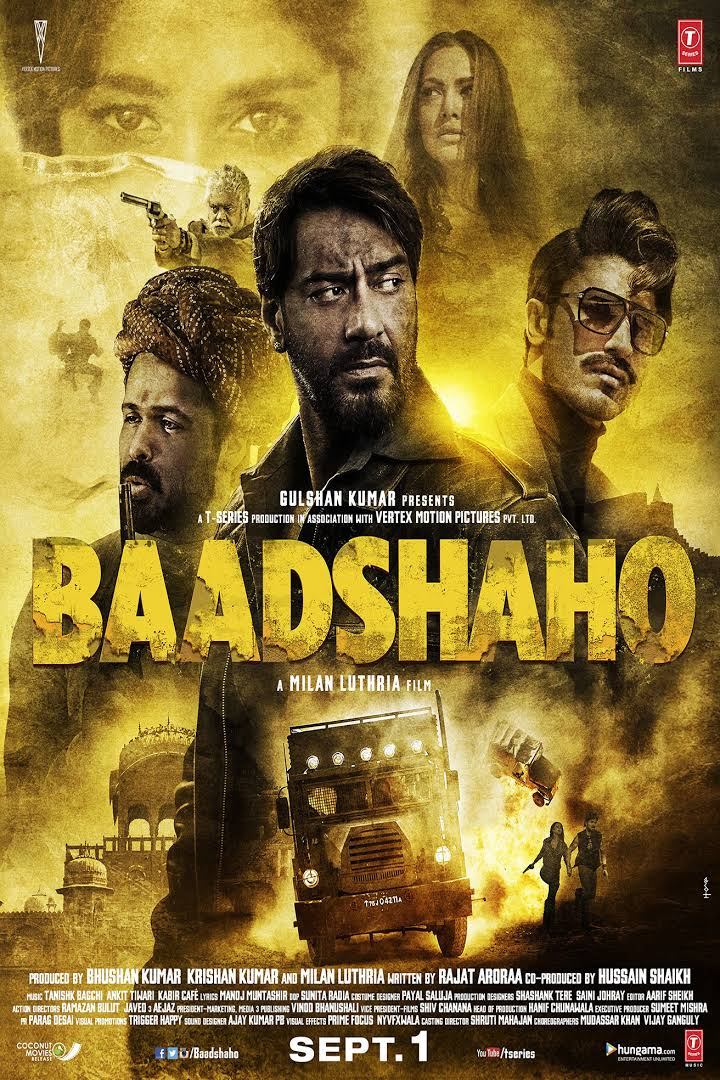 Baadshaho 2017 Hindi Movie Download HDRip 480p 200MB | 400MB And 720p 1.2GB