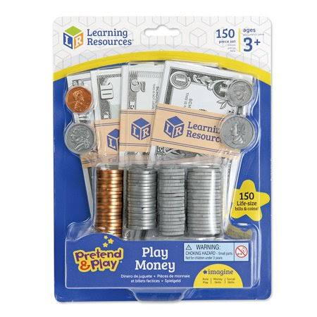 Learning Resources Pretend and Play Money Set - 150pcs