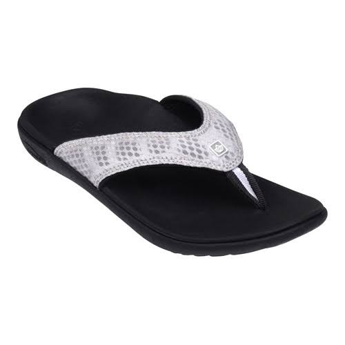 Spenco Women's Breeze Sandals - Black/Silver, 9 US