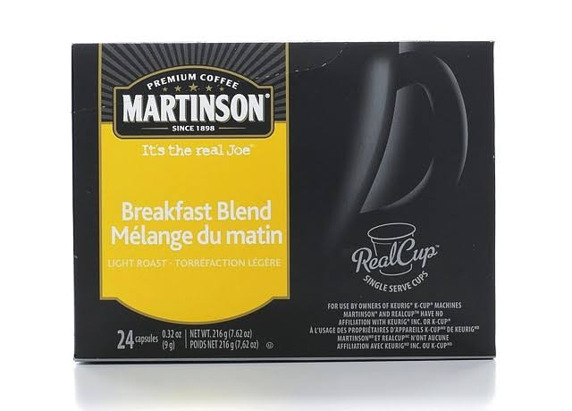 Martinson Coffee RealCups, Breakfast Blend, K-Cup Compatible - 24 count