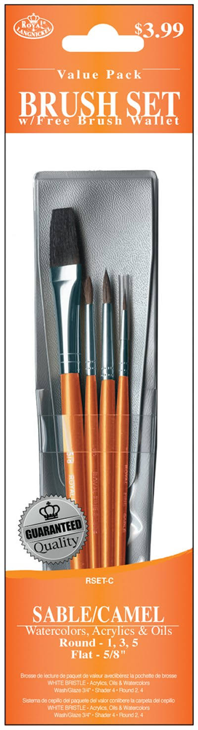Sable/Camel Value Pack Brush Set 4/Pkg