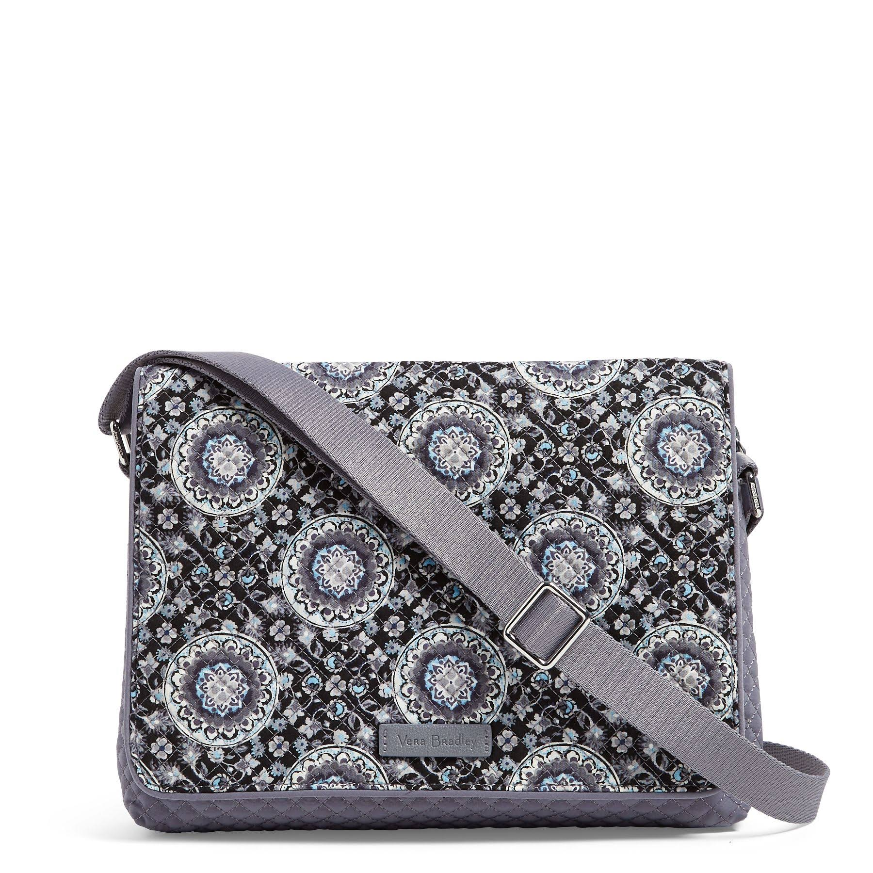 Vera Bradley Iconic Turnabout Crossbody Charcoal Medallion