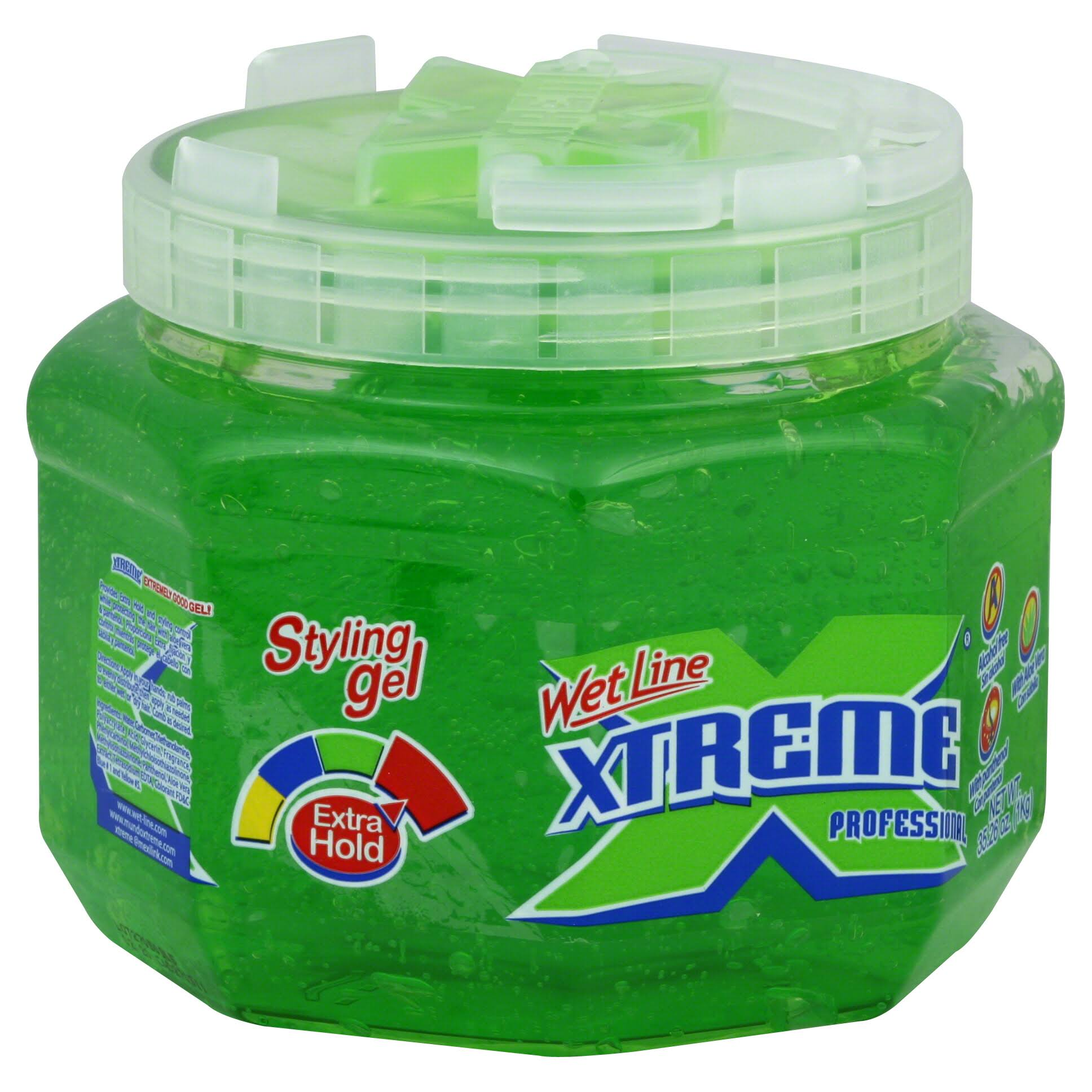Xtreme Professional Wet Line Styling Gel - Extra Hold, Green, 35.26oz